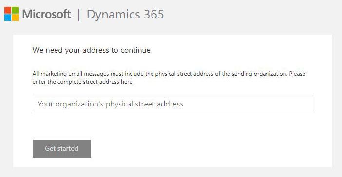 Dynamics 365 Marketing trial