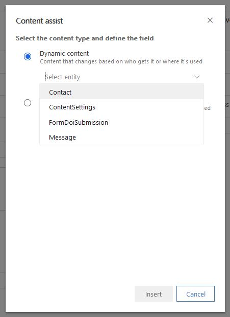Dynamic Content and Content Assist