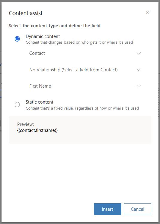 Personalized dynamic data from any data source - Content Settings
