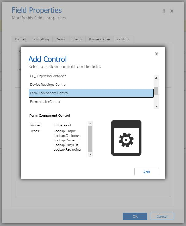 Form Component Control