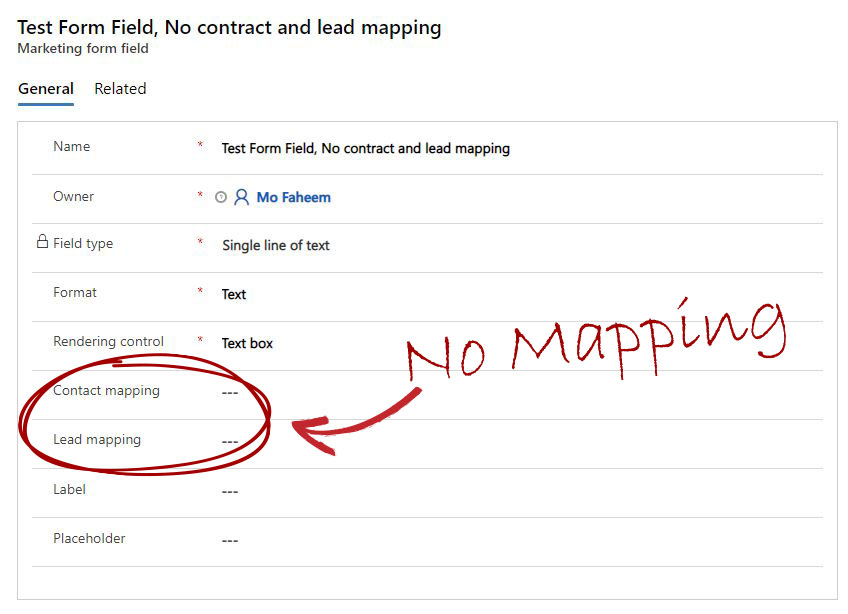 Additional form fields - No mapping Contacts or leads