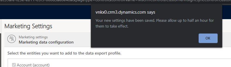 Dataset Configuration taking effect