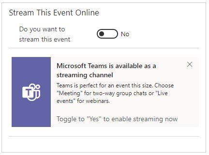 Dynamics 365 Marketing Events Microsoft Teams