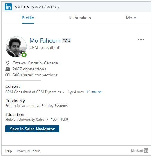Integrate LinkedIn Sales Navigator and Dynamics 365 Sales