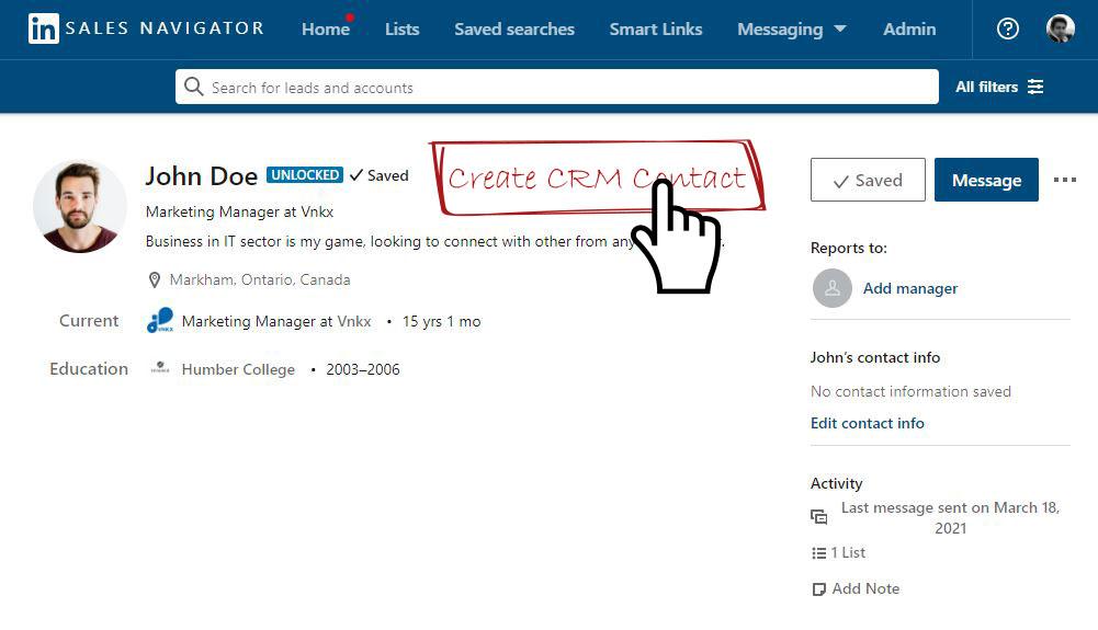 LinkedIn Sales Navigator plans and Dynamics 365 Integration