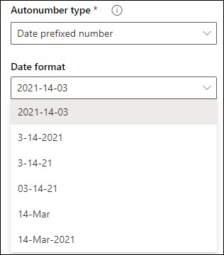Date prefixed number