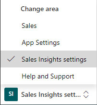 Sales Insights settings