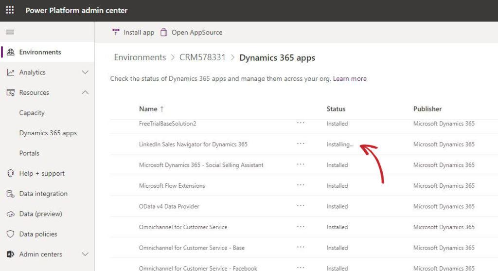 Install LinkedIn Sales Navigator for Dynamics 365