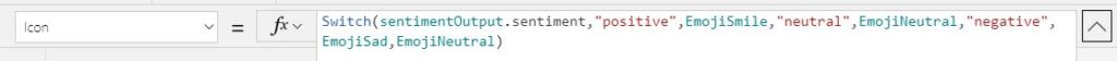 Sentiment icon code
