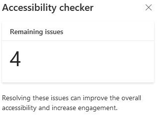 accessibility checker issues count