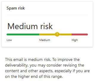 email spam checker medium risk