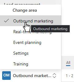 Outbound marketing area