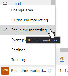 Real-time marketing area