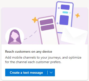 Create a Dynamics 365 Marketing SMS messages