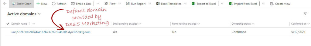 pre-authenticated subdomain using dyn365mktg.com