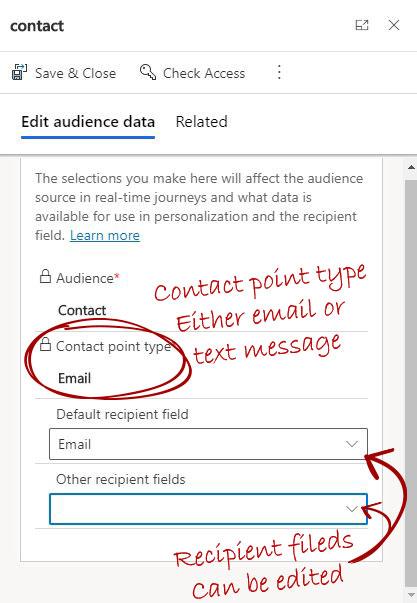 Edit Audience data