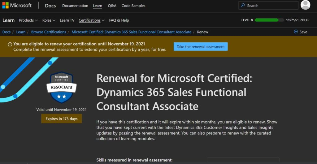 The first attempt to renew Microsoft certificate - Certificate expiry