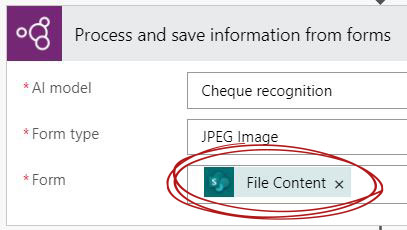 The form file content