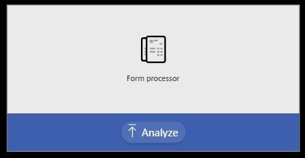 Form processing AI Builder in Power Apps control