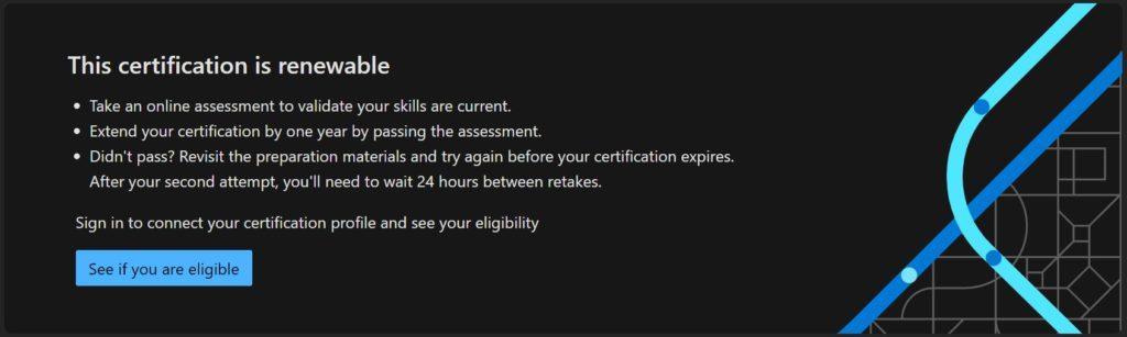 renew Microsoft certificate eligibility check