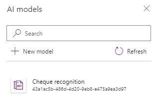 Select a Form processing AI Builder