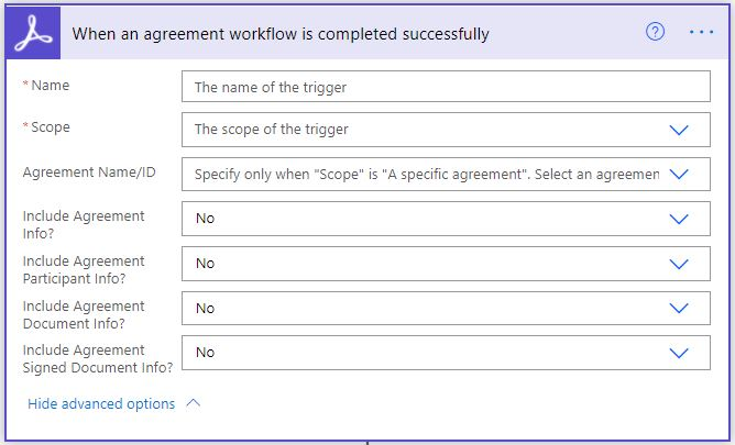 When an agreement workflow is completed successfully