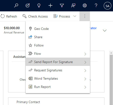 Creating Adobe Sign agreement manually