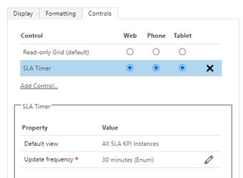 SLA Timer Control
