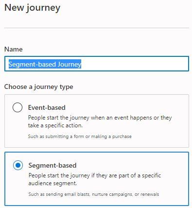 segment-based journey