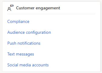 Marketing Settings - Customer engagment