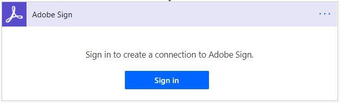 Adobe Sign sign in