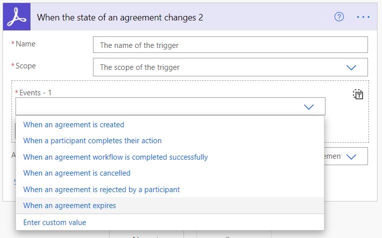 When the state of an agreement changes