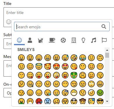 Real-time marketing push notifications emojis