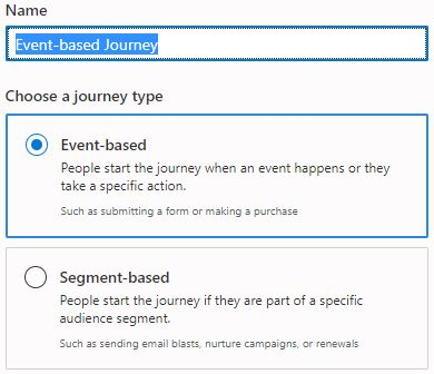 event-based journey
