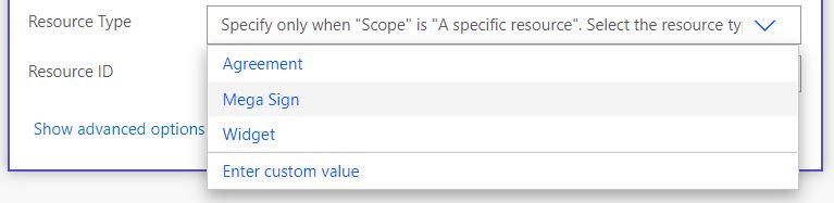 Adobe Sign Resource type