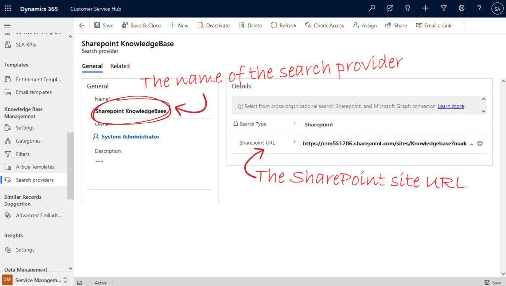 Setup SharePoint Serch Provider
