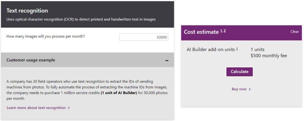 AI Builder calculator